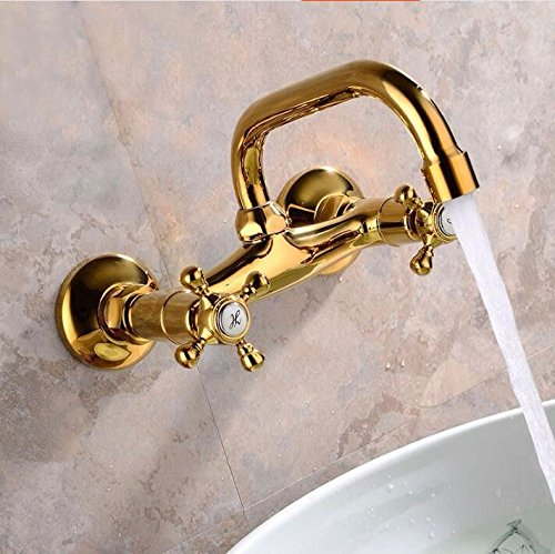 Bijjaladeva Antique Bathroom Sink Vessel Faucet Basin Mixer Tap Tap the wall extended hot and cold dual two holes
