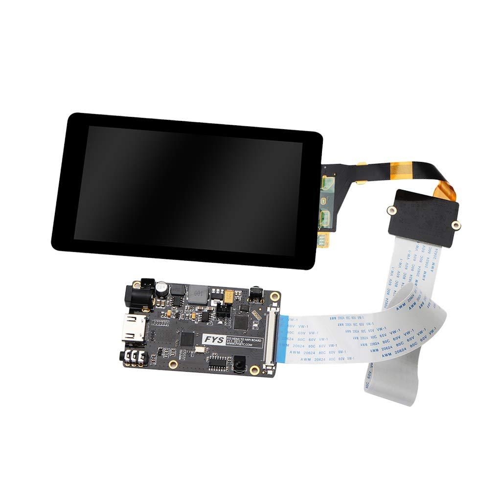 Sharplace Kit Placa Controlador Pantalla LCD 5.5 Inches con Película Vidrio Templado Cable Plano