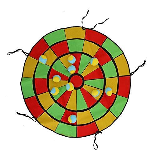 (LLDWORK Parent-Child Outdoor Interactive Game Ball Sticky Dartboard Children Training Sandbags Sticky Ball Toys)