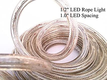 CBconcept 120VLR150FT-Pink 150-Feet 120V 2-Wire 1//2-Inch LED Rope Light with 1.0-Inch LED Spacing