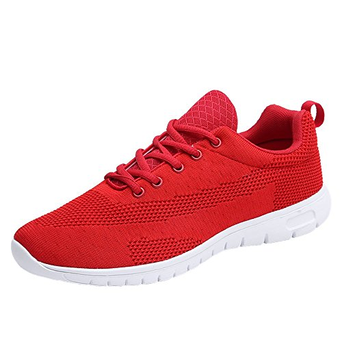 Casual Gym Sneakers37 Athletic Mesh Running Women BRKVALIT Red Men Shoes Sporting Shoes Trainers 46 Road wzaYq