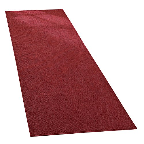 Extra Wide Extra Long Skid-Resistant Floor Runner Rug, for Hallways, Kitchens and Entryways, Brick, 28