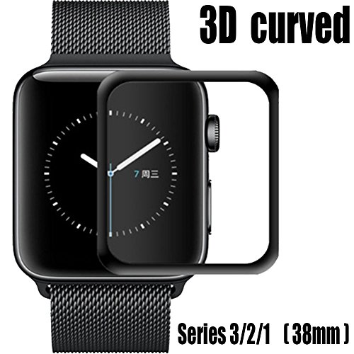 For Apple Watch Screen Protector 38mm,Tempered Glass Screen Protector, Anti-Scratch Scratch Resistant Full Coverage Scratch-proof Screen Film for Apple iWatch 38mm Series 1/2/3