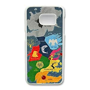Custom made Case,Map of Territories in Game of Thrones Cell Phone Case for Samsung Galaxy S7, White Case With Screen Protector (Tempered Glass) Free S-7295255