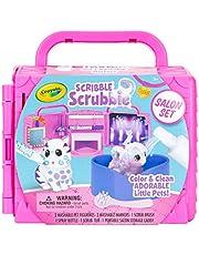 Crayola 74-7304 Scribble Scrubbie Washimals Schoonheidssalon, Vanaf 3 Jaar, Meerkleurig, 13.49 x 14.2 x 14.76 cm