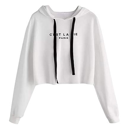 WM & MW Womens Short Sweatshirt Fashion CEST LA Vie Paris