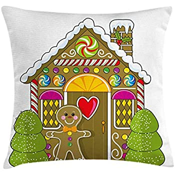 Amazon Com Gingerbread Man Throw Pillow Cushion Cover By