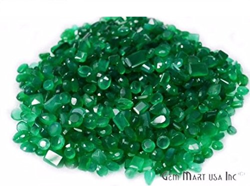 Select Your Stone 50 Carat Mix Gemstone Lot Exclusively by GemMartUSA(GREEN ONYX) GO-60001