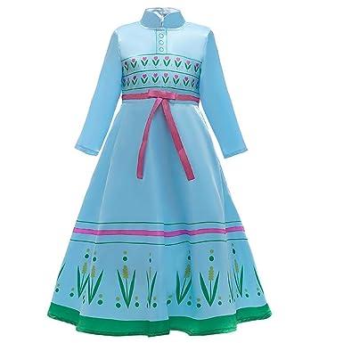 OwlFay Disfraz de Elsa Frozen niñas de 4 a 15 años: Amazon.es ...