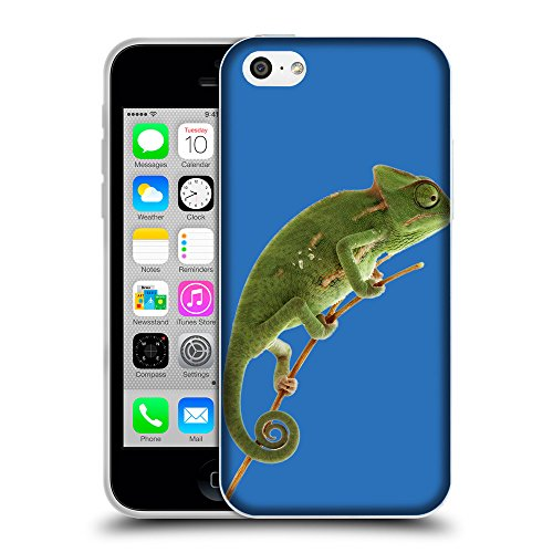 GoGoMobile Coque de Protection TPU Silicone Case pour // Q05680608 caméléon Azzurro // Apple iPhone 5C