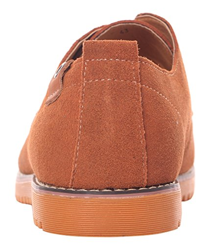 Runday Men's Fashion Suede Leather Shoes Round Toe Lace Up Casual Oxfords(9 D(M)US,tan) (9 D(M) US, Tan) by Runday (Image #2)