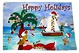 Holiday Boat Parade Christmas Yard Flag From Art