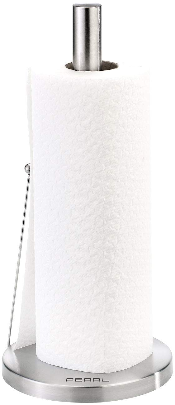 PEARL Kitchen Roll Holder Paper Towel Holder made of Stainless Steel with Handy Roll Stop (Reel)