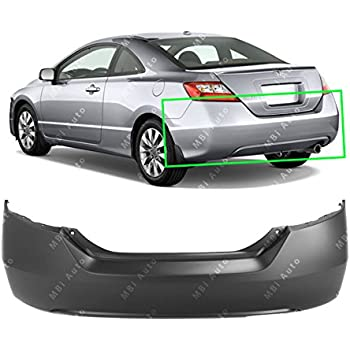 MBI AUTO   Primered, Rear Bumper Cover Replacement For 2006 2011 Honda  Civic Coupe
