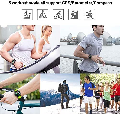 Anmino Smart Watch (GPS +Barometer+Altimeter+Compass),Full HD Touchscreen,All-Day Heart Rate and Activity Fitness Tracker,Pedometer,Calorie Counter,Sleep Tracker,Bluetooth smartwatch 51uypEhBDNL