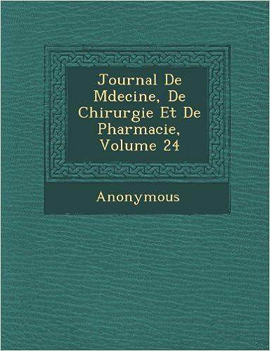 Livre gratuits Journal de M Decine, de Chirurgie Et de Pharmacie, Volume 24 epub pdf
