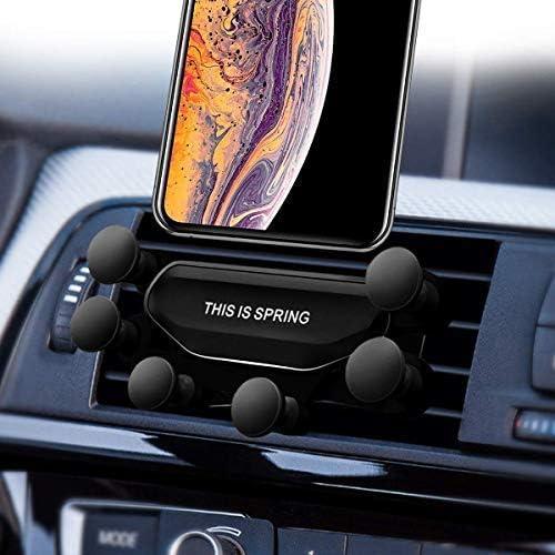 2019 Nuovo Auto-Grip Car Phone Mount, Universal Auto Air Vent Grip Gravity Car Phone Holder, Supporto Automatico Telescopico gravit/à Staffa Air Vent Mount(black-16