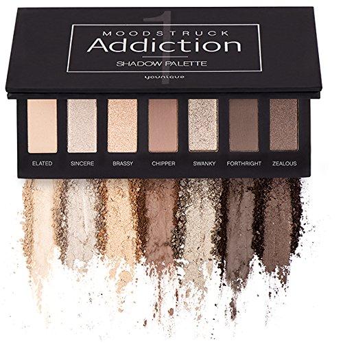 Younique Make-up-Moodstruck Addiction Shadow Palette 1–mit Braun- und Pfirsichtönen Beauty Goddess
