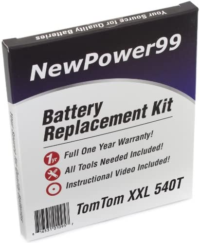 NewPower99 Battery Replacement Kit with Battery Video Instructions and Tools for Tomtom XXL 530