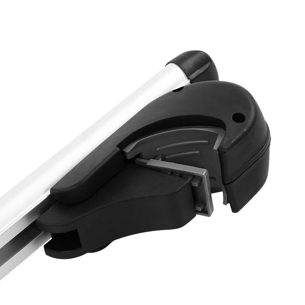 GOTOTOP Barras de Techo Universal de aleaci/ón de Aluminio con Cerradura antirrobo Plata portaequipajes de Techo para Coche Capacidad de Carga m/áxima 150/kg