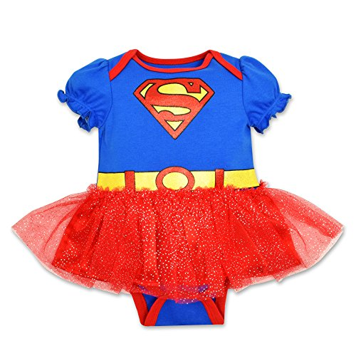 Baby Girls' Supergirl Tutu Onesie (0-3 Months) (Supergirl Halloween)