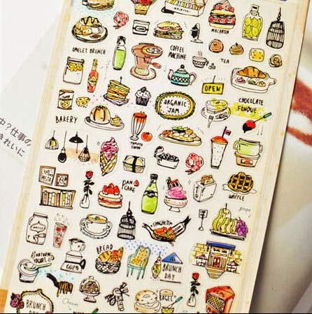 Cacys-Store - Korea Import Hearty Dinner Label Stickers Decorative Stationery Stickers Scrapbooking DIY Stickers Diary Album Stick Label