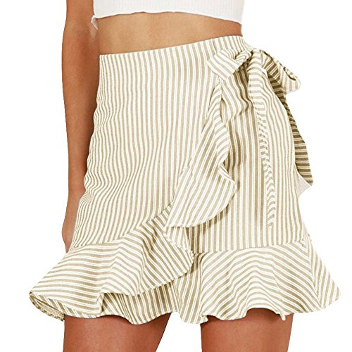 Lace Ruffled Mini Skirt - Layered Ruffled High Waisted Mini Skirt Womens Frill Skorts Shorts