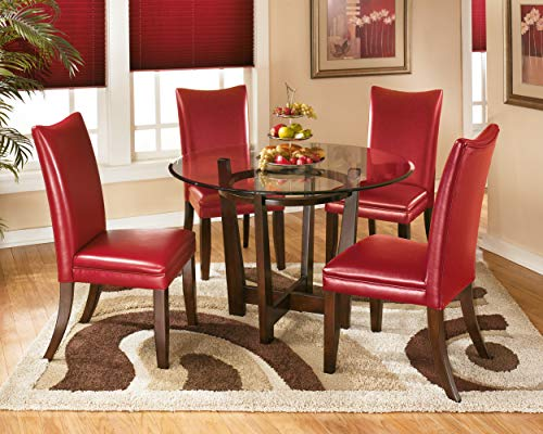 Ashley Furniture Signature Design - Charrell Dining Side Chair - Set of 2 - Red by Signature Design by Ashley (Image #3)