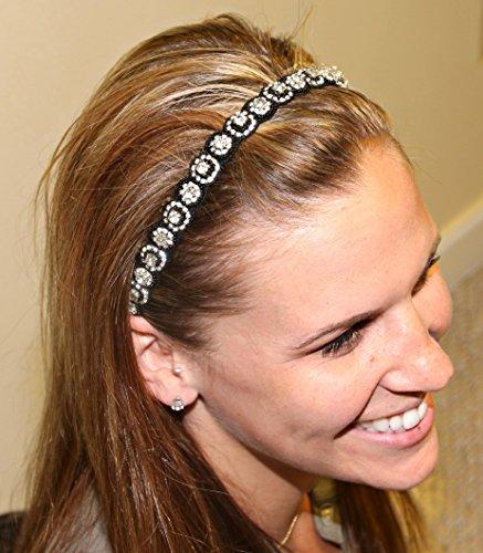 MELODY -Regalia Beaded Rhinestone Stretch No Slip Headband (Hair Jewelry)