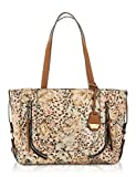 Jessica Simpson Womens Kendall Faux Leather Tote Handbag Beige Large