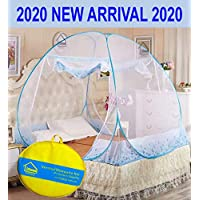 VERDIOZ Mosquito net (Double Bed | King Size) 100% Ventilation | Visibility with Free Saviours