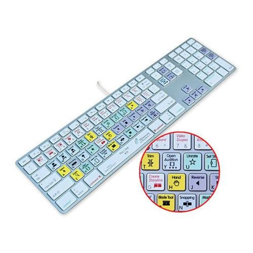 KB Covers Keyboard Cover for US/ANSI Keyboard - Final Cut Pro X (KBKYBD-FCPX-AK-W)