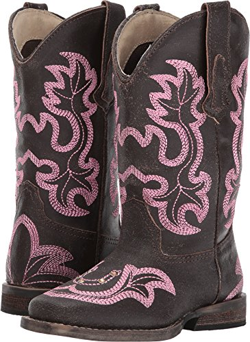 Roper Girls' Caroline, Brown, 10 M US Little Kid (Roper Horseshoe)