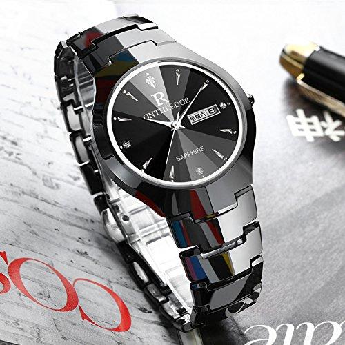ZHANGZZ ONTHEEDGE Reloj de Alta Gama, Ver Reloj de Acero de tungsteno Reloj para Hombres