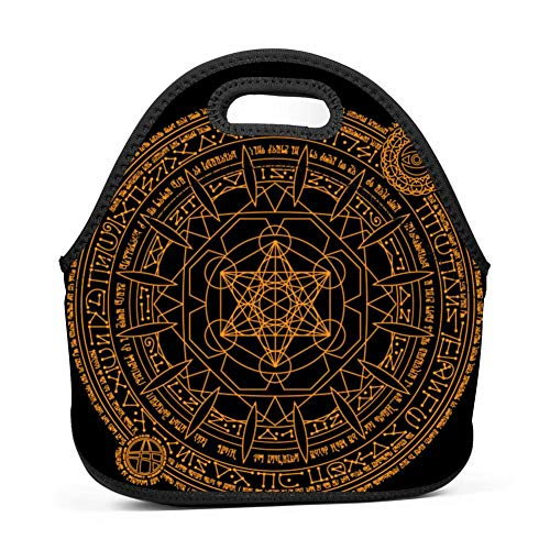 WMCGMZE Lunch Bag Incantations Gourmet Lightweight Cool Lunch Tote Bag Insulated Neoprene ()