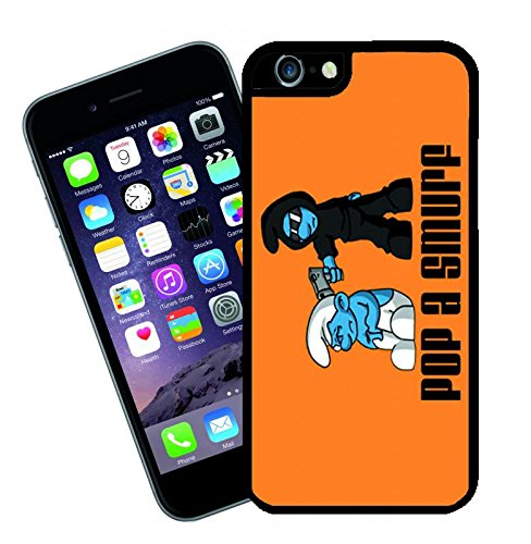 Pop a Smurf 2 iPhone case - This cover will fit Apple model iPhone 6 - By Eclipse Gift Ideas (Case Smurf Iphone 4)