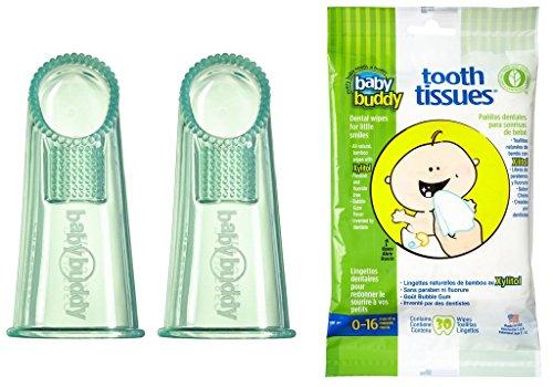 Baby Buddy Wipe-N-Brush & 30 Wipes—Innovative 6-Stage Oral