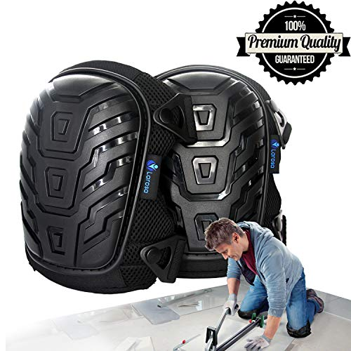 ee Pads - Knee Protector for Gardening, Cleaning, Flooring, Working, Construction - Comfortable Gel Cushion, Heavy Duty Foam Padding, Strong Straps & Adjustable Easy-Fix Clips ()