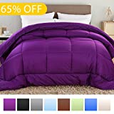 Alternative Comforter - Balichun Summer Hotel Collection 1500 Series - Luxury Duvet Insert Goose Down Alternative Quilted Comforter with Corner Tabs - Hypoallergenic, Full/Queen, Purple