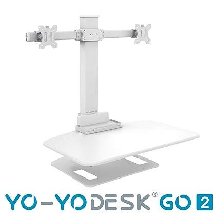 Yo-Yo DESK GO 2 | Mesa de pie de altura ajustable con monitor de doble