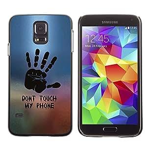 PIG - FOR Samsung Galaxy S5 - DON'T TOUCH MY PHONE - Dise???¡¯???€????€????¡Ào para el caso de la cubierta de pl???