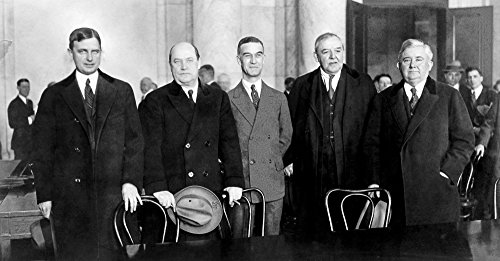 Harry F Sinclair (1876-1956) Namerican Oil Industrialist Sinclair (Second From Left) With His Attorneys At A Congressional Hearing On The Teapot Dome Oil Leases 21 March 1924 Poster Print by (24 x 36