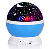 Alenbrathy Night Light Lamp, Star Projector Romantic LED Night Light 360 Degree Rotation 4 LED Bulbs 9 Light Color Changing With USB Cable For Wedding,Birthday,Parties,Kids Bedroom Or Christmas Gift
