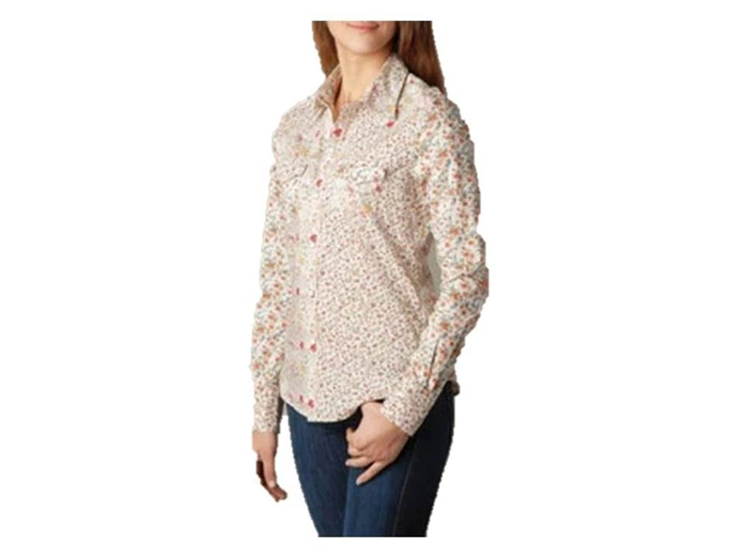 True Religion Women's Floral Sunrise Georgia Shirt, XS