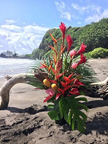 Hawaiian Tropical Abundance Flower Arrangement by Hana Tropicals