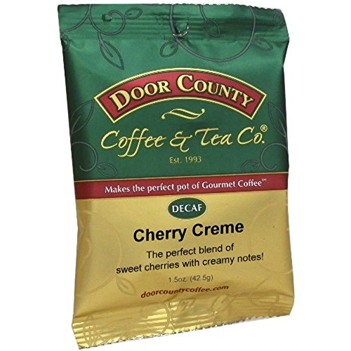 Coffee Cherries Pot - Door County Coffee, Cherry Creme Decaf, Ground, 1.5oz Full-Pot Bag