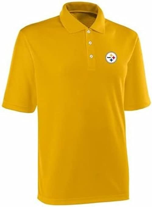 878504af7 Pittsburgh Steelers NFL Team Apparel Dri Fit Polo Golf Shirt Gold Size S    M (