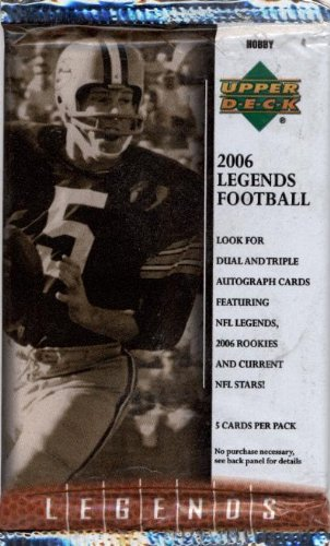 1 (One) Pack of 2006 Upper Deck Legends Football Cards Hobby Pack (5 Cards/Pack)