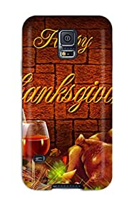 Gnuttkn2041LeNGT Case Cover Thanksgivings Galaxy S5 Protective Case