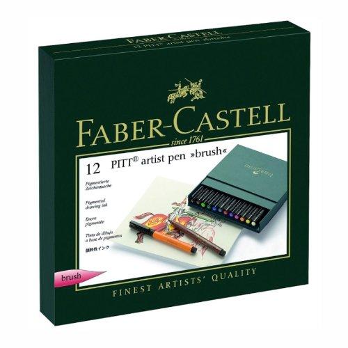 Faber-Castel Pitt Artist Brush Pens (12 Pack), Multicolor by Faber Castell